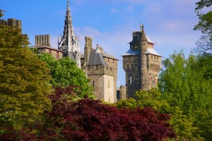 Cardiff Castle, Bute Park, springtime