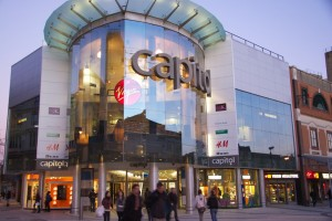 Cardiff, Capitol shopping centre, Queen Street