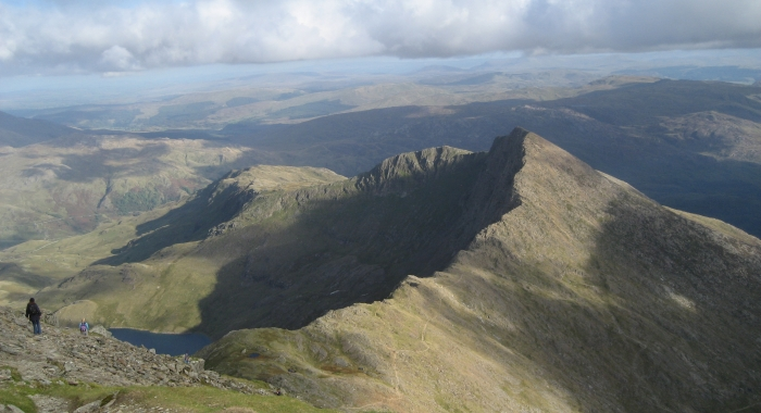 From the peak of Snowdon